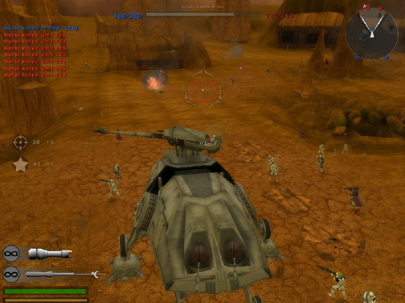 XL battle in BF2 with clone army, and AT-TE